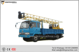 Water Well Drilling Rigs , Borehole Drilling Equipment 3MT Hoist Single Line Lifting Capacity